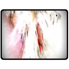 Abstract Angel in White Double Sided Fleece Blanket (Large)