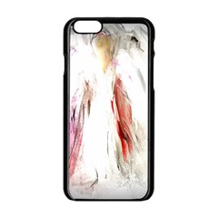 Abstract Angel in White Apple iPhone 6 Black Enamel Case