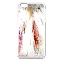 Abstract Angel In White Apple Iphone 6 Plus Enamel White Case
