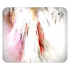 Abstract Angel In White Double Sided Flano Blanket (small)