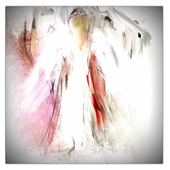 Abstract Angel in White Large Satin Scarf (Square)