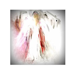 Abstract Angel in White Small Satin Scarf (Square)