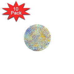 Abstract Earth Tones With Blue  1  Mini Magnet (10 Pack)