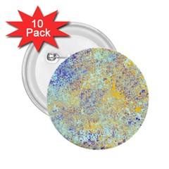 Abstract Earth Tones With Blue  2.25  Buttons (10 pack)