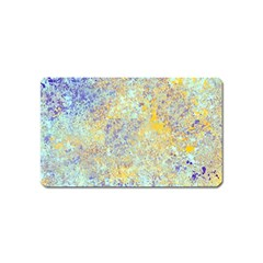 Abstract Earth Tones With Blue  Magnet (name Card)