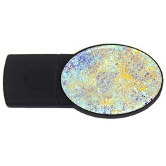 Abstract Earth Tones With Blue  Usb Flash Drive Oval (2 Gb)