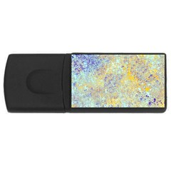 Abstract Earth Tones With Blue  USB Flash Drive Rectangular (1 GB)