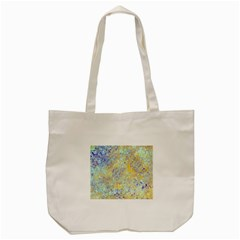 Abstract Earth Tones With Blue  Tote Bag (Cream)