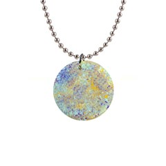 Abstract Earth Tones With Blue  Button Necklaces