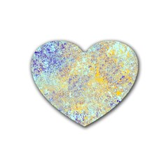 Abstract Earth Tones With Blue  Heart Coaster (4 pack)