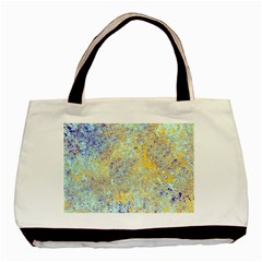 Abstract Earth Tones With Blue  Basic Tote Bag (two Sides)
