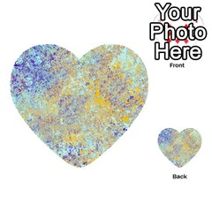 Abstract Earth Tones With Blue  Multi-purpose Cards (Heart)