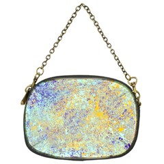 Abstract Earth Tones With Blue  Chain Purses (one Side)