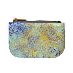 Abstract Earth Tones With Blue  Mini Coin Purses