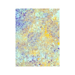 Abstract Earth Tones With Blue  Shower Curtain 48  X 72  (small)
