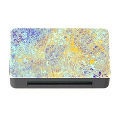 Abstract Earth Tones With Blue  Memory Card Reader with CF