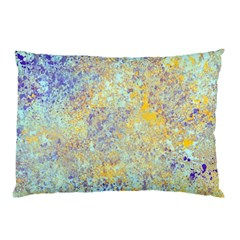 Abstract Earth Tones With Blue  Pillow Cases (Two Sides)