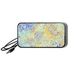 Abstract Earth Tones With Blue  Portable Speaker (Black)