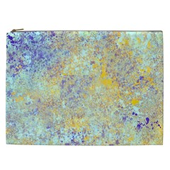 Abstract Earth Tones With Blue  Cosmetic Bag (xxl)