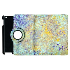 Abstract Earth Tones With Blue  Apple Ipad 2 Flip 360 Case