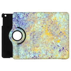 Abstract Earth Tones With Blue  Apple iPad Mini Flip 360 Case