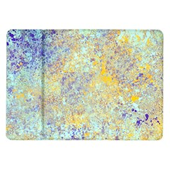 Abstract Earth Tones With Blue  Samsung Galaxy Tab 10.1  P7500 Flip Case