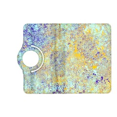 Abstract Earth Tones With Blue  Kindle Fire Hd (2013) Flip 360 Case