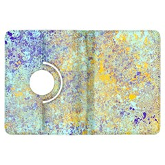 Abstract Earth Tones With Blue  Kindle Fire HDX Flip 360 Case
