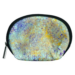 Abstract Earth Tones With Blue  Accessory Pouches (Medium)