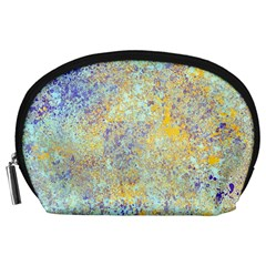 Abstract Earth Tones With Blue  Accessory Pouches (large)