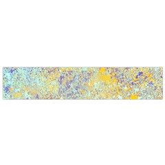 Abstract Earth Tones With Blue  Flano Scarf (Small)