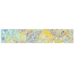 Abstract Earth Tones With Blue  Flano Scarf (large)