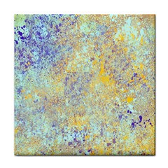Abstract Earth Tones With Blue  Tile Coasters