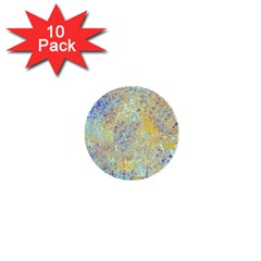 Abstract Earth Tones With Blue  1  Mini Buttons (10 pack)