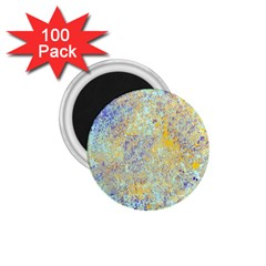 Abstract Earth Tones With Blue  1.75  Magnets (100 pack)