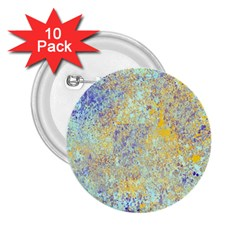 Abstract Earth Tones With Blue  2 25  Buttons (10 Pack)