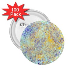 Abstract Earth Tones With Blue  2 25  Buttons (100 Pack)