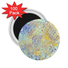 Abstract Earth Tones With Blue  2.25  Magnets (100 pack)