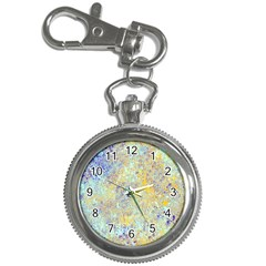Abstract Earth Tones With Blue  Key Chain Watches