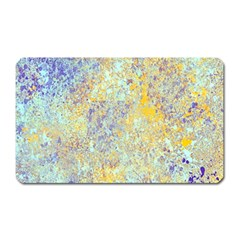 Abstract Earth Tones With Blue  Magnet (rectangular)