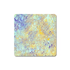 Abstract Earth Tones With Blue  Square Magnet