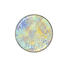 Abstract Earth Tones With Blue  Hat Clip Ball Marker (4 pack)