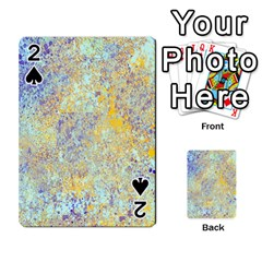 Abstract Earth Tones With Blue  Playing Cards 54 Designs