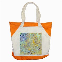 Abstract Earth Tones With Blue  Accent Tote Bag