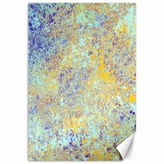 Abstract Earth Tones With Blue  Canvas 12  X 18
