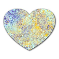Abstract Earth Tones With Blue  Heart Mousepads