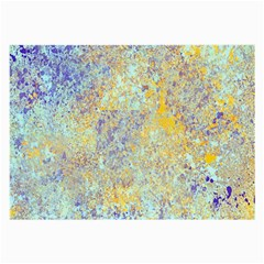 Abstract Earth Tones With Blue  Large Glasses Cloth (2 Side)