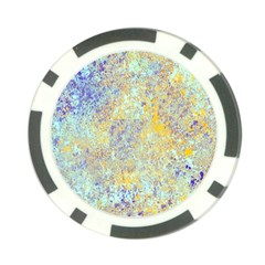 Abstract Earth Tones With Blue  Poker Chip Card Guards
