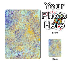 Abstract Earth Tones With Blue  Multi Purpose Cards (rectangle)