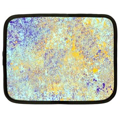Abstract Earth Tones With Blue  Netbook Case (large)